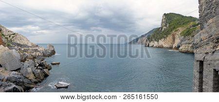 Panoramic View Of The Byron Gulf In Porto Venere - Liguria - Italy