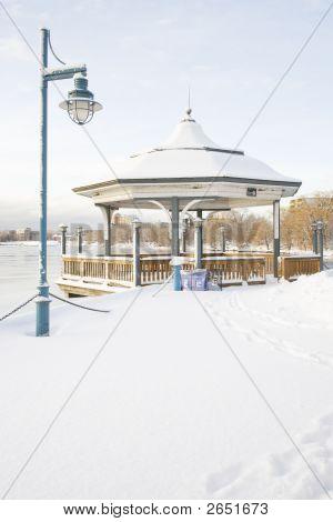 Gazebo And Snow