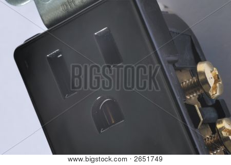 Closeup Of Electrical Outlet