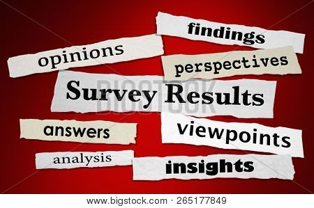 Survey Results Answers Feedback News Headlines 3d Illustration