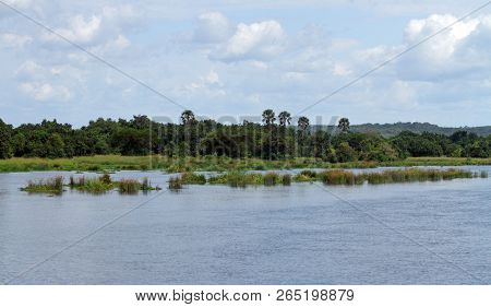 Looking Out Across The River Nile In Murchison Falls National Park, Uganda.