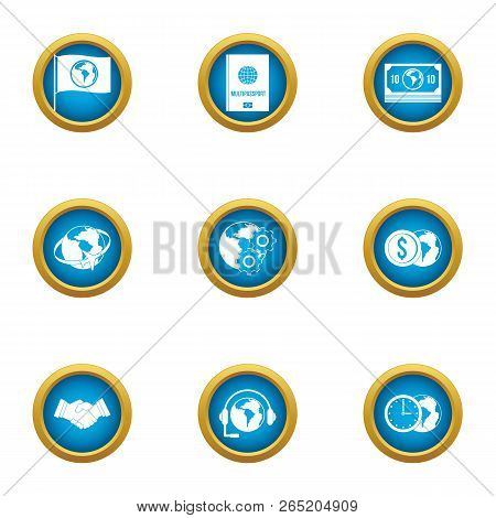Without Boundaries Icons Set. Flat Set Of 9 Without Boundaries Vector Icons For Web Isolated On Whit