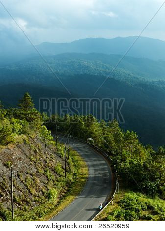Curved Road Of Doi Inthanon National Park