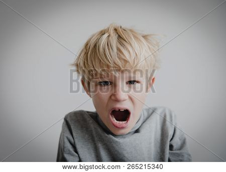 agressive angry conflict child exhausted tired overload poster