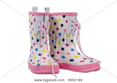 Boots With Polkdots