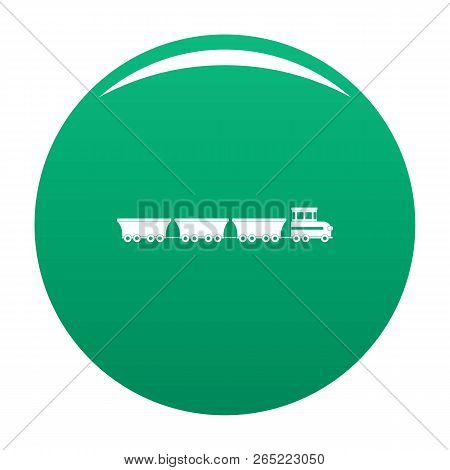 Commercial Train Icon. Simple Illustration Of Commercial Train Vector Icon For Any Design Green