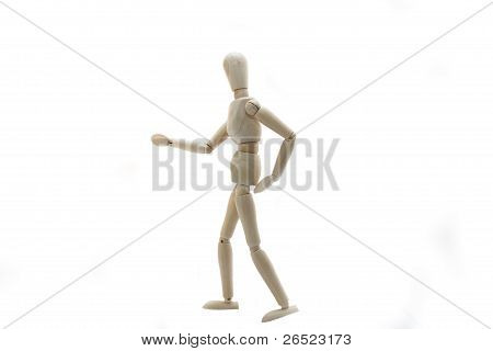 Wooden Manikin Doll With Bad Back