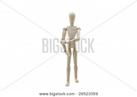 Wooden Manikin Doll Tennis Elbow Rsi