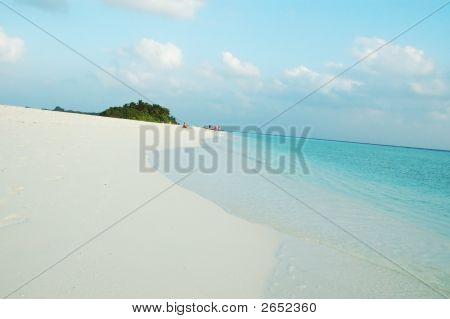 Beach of Kuramathi Island Maldives