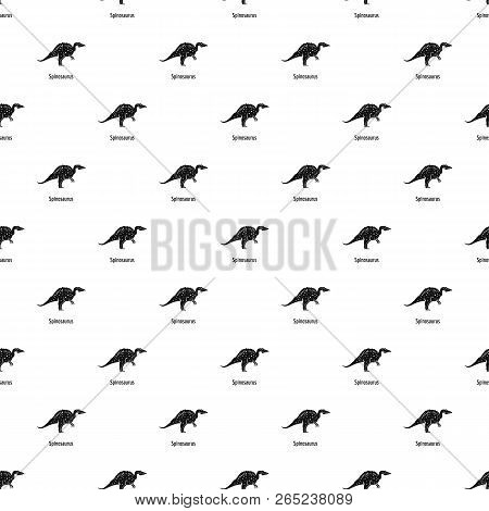 Spinosaurus Pattern Seamless Vector Repeat Geometric For Any Web Design