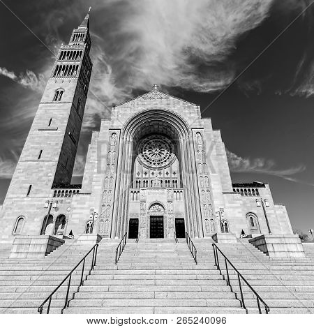The Largest Catholic Church In North America, The Basilica Of The National Shrine Of The Immaculate
