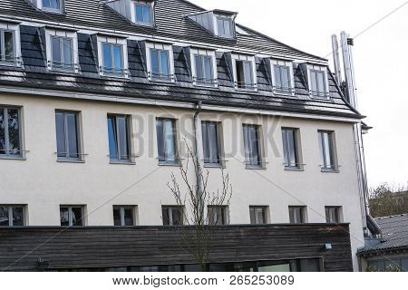 Bad Honnef, Germany - March 27, 2016: Former School Building Business School St Anno School Brothers