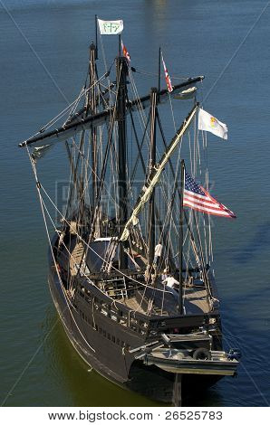 Pinta Replica At Sea