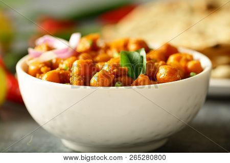 Indian Delicious Recipe- Homemade Chickpea  Curry -channa Masala
