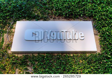 Youtube Corporate Headquarters Exterior And Sign