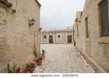 walk on the street of Marzamemi, Sicily