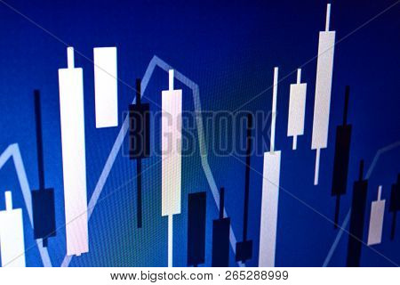 Financial Chart Japanese Candles. Stock Chart, Charts