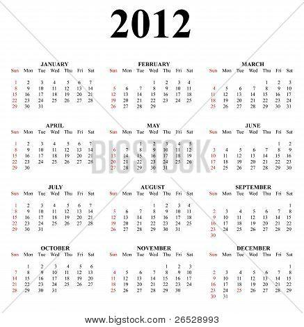 2012 Clear Great Calendar