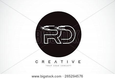 Rd Modern Leter Logo Design With Black And White Monogram. Creative Letter Logo Brush Monogram Vecto