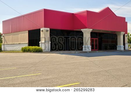 Unoccupied Generic Front Side Of Store, Business Or Professional Office Space.