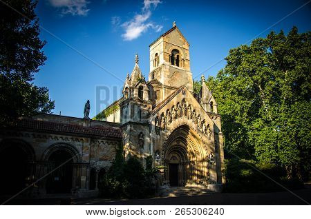 Old Jaki Kapolna Church Near Vajdahunyad Castle In Budapest, Hungary