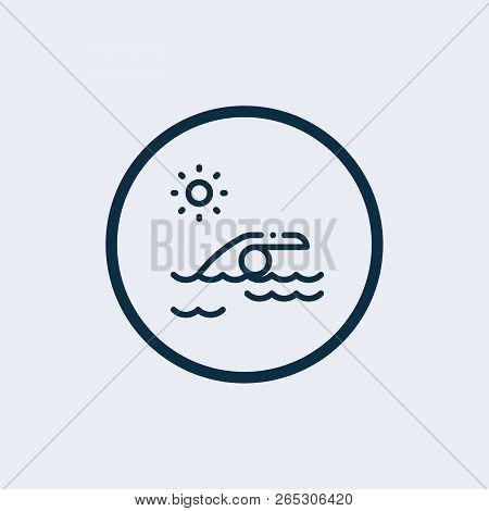 Swim Icon Vector. Swimming Sign. Water Swim Sport Icon