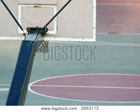 Basketball Court From Behind