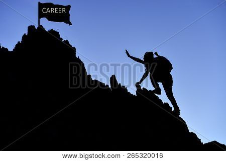 Career Struggle, Ambition And Perseverance;success Concept And Career