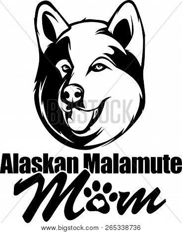 Animal Dog Alaskan Malamute Rg6H Mom.eps
