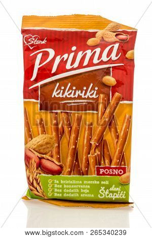 Winneconne, Wi - 25 October 2018:  A Bag Of Stark Prima Peanut Filled Pretzel Sticks From Serbia On