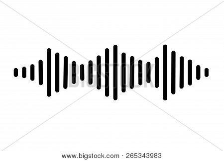 Audio Signal Icon On White Background. Flat Style. Sound Icon For Your Web Site Design, Logo, App, U