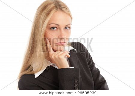 Business Woman Looking Seriously