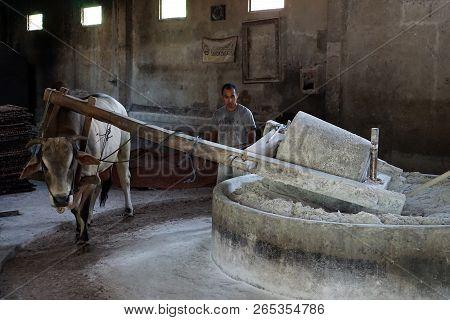 Yogyakarta, Indonesia. April, 23 2018. Traditional Noodle Factory In Bantul, Yogyakarta, Indonesia.