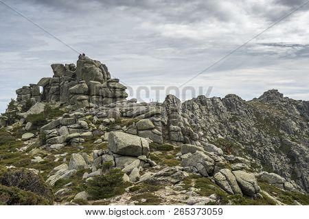 Views Of Siete Picos (seven Peaks) Range. It Is One Of The Mountain Ranges Better Known In Guadarram