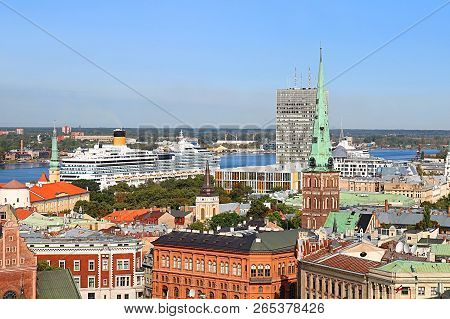 View Of Line In The Portr And St. Jacob Catholic Cathedral Of Riga, Latvia