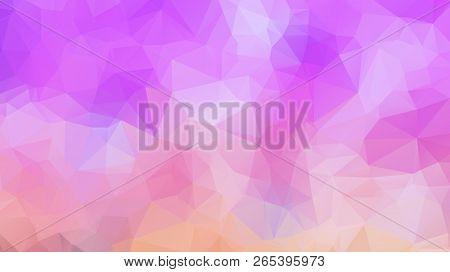 Colorful Swirl Rainbow Polygon Background. Colorful Abstract Vector. Abstract Rainbow Color Triangle