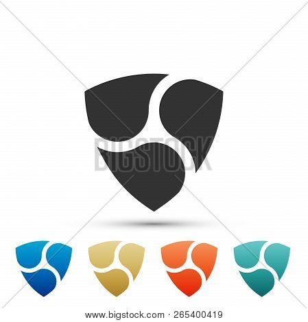 Cryptocurrency Coin Nem Xem Icon Isolated On White Background. Physical Bit Coin. Digital Currency.