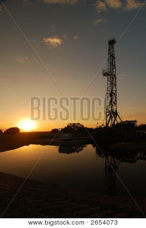 Sundown At The Derrick