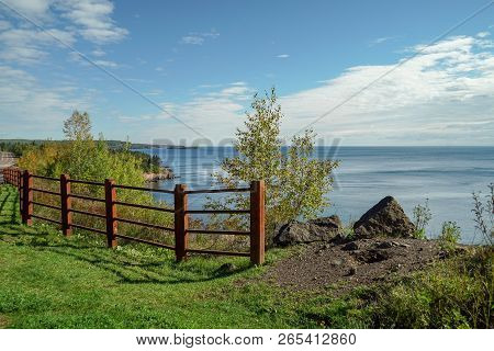 Scenic View Of Lake Superior From An Overlook In Northern Minnesota