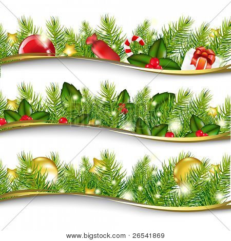 3 Christmas Garlands