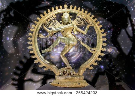 Chennai, India - August 18, 2018: A Bronze Statue Of God Shiva In Form Of Nataraja, The Cosmic Dance