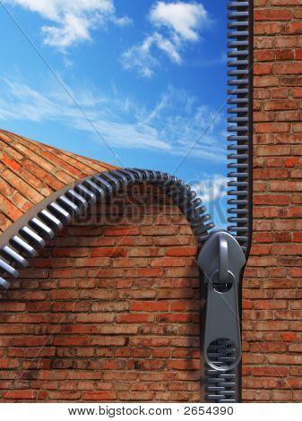 Unzip Brick Wall