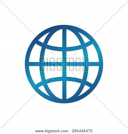 World Wide Web Icon Vector Color Blue On White Background. World Wide Web Icon Vector Eps10, Web Ico