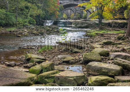 Beautiful Berea Falls In Autumn