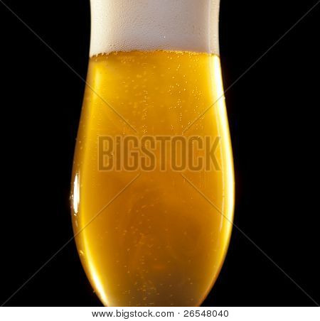 Blond Beer In A Glass