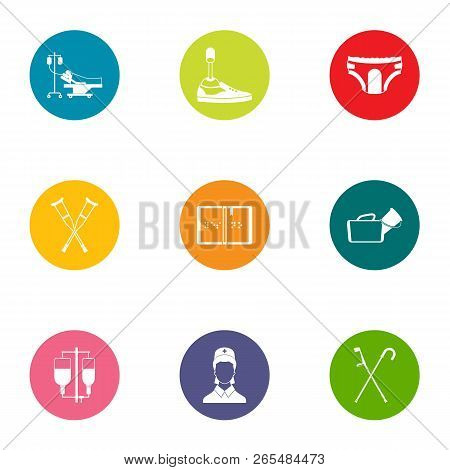 Attending Physician Icons Set. Flat Set Of 9 Attending Physician Icons For Web Isolated On White Bac