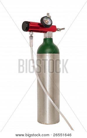 Cilindro de oxígeno para uso médico
