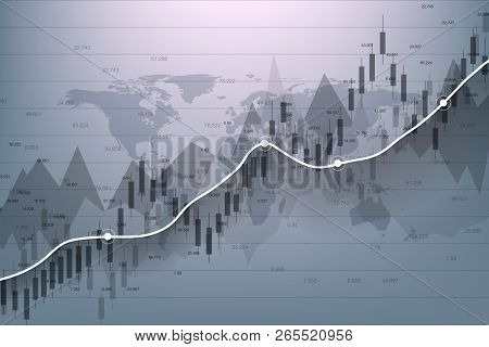 Stock Market And Exchange. Business Candle Stick Graph Chart Of Stock Market Investment Trading. Sto