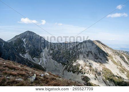 View To Pachola And Spalena Mountain Peak From Lucne Sedlo Between Banikov And Hruba Kopa Mountain P