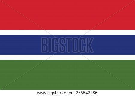 Vector Image For Gambia Flag. Based On The Official And Exact Gambian Flag Dimensions (3:2) & Colors
